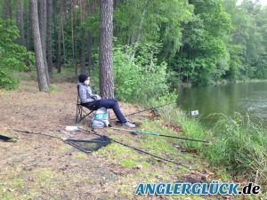Fische und Angler machen Pause